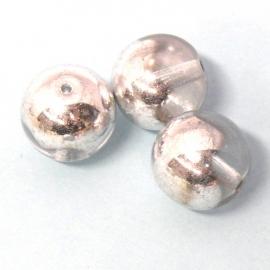 glaskraal rond 12mm grijs/half zilver (BJW027)