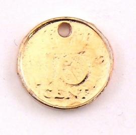 DQ metaal ROSE GOUD bedel munt 10 cent 14mm (B02-024-RG)