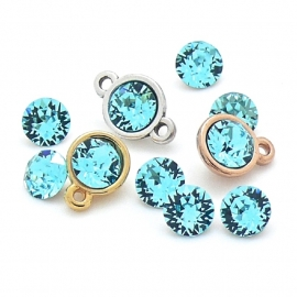 swarovski puntsteen SS29 6mm light turquoise