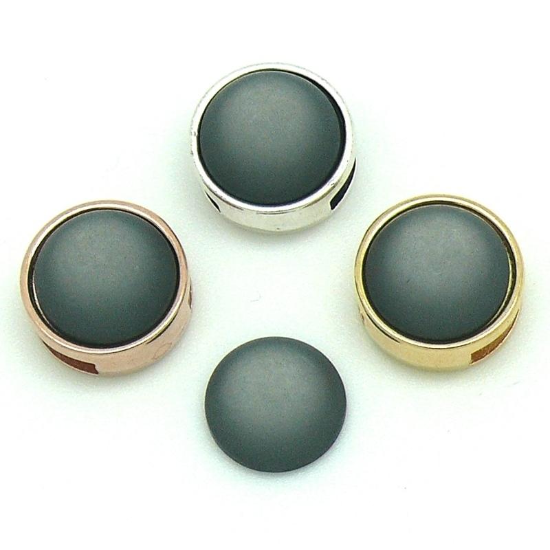 polariscabochon 11,8 mm - kleur Dark Grey (CAB-12-017)