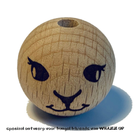 WHAZZ UP houten kraal schaap 25 mm
