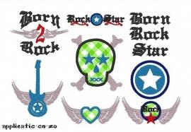 serie van 7 patronen Rock Star