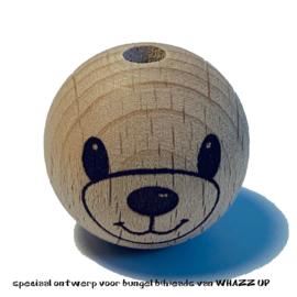 WHAZZ UP houten kraal beer 25 mm
