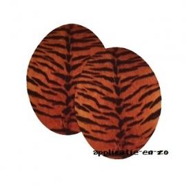 kniestukken tijger (2st) opstrijkbaar
