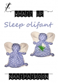 WHAZZ-UP naaipatroon sleep olifant (knuffeldoekje)