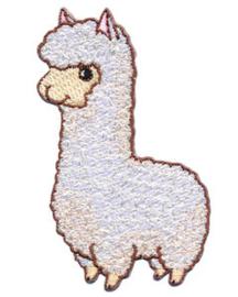 strijkapplicatie alpaca