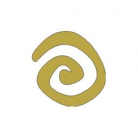 opstrijk motief spiraal (goud)