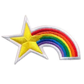 strijkapplicatie regenboog met ster