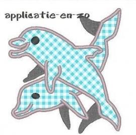 borduurpatroon dolfijnen