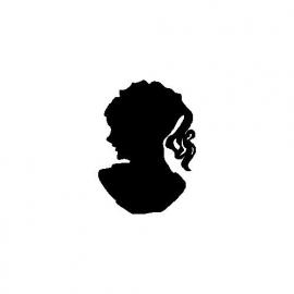 veloursmotief silhouette