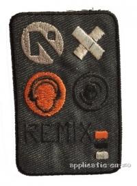 kniestuk 'remix' antraciet (opstrijkbaar)
