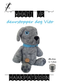 WHAZZ UP haakpatroon deurstopper dog Vito (PDF)