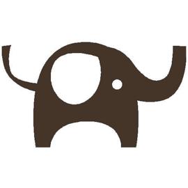 veloursmotief olifant