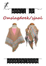 WHAZZ UP haakpatroon omslagdoek/ sjaal ecru