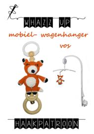 WHAZZ UP haakpatroon vos voor mobiel/ box/ wagenhanger