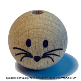 WHAZZ UP houten kraal muis 25 mm