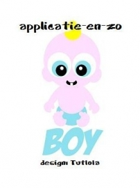 SUPER full color strijkapplicatie baby jongen