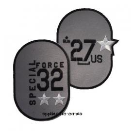 kniestukken special force grijs (opstrijkbaar)