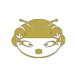 opstrijkmotief gouden chineesje