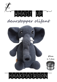 WHAZZ UP haakpatroon deurstopper olifant
