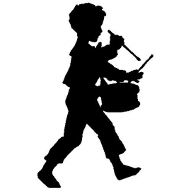 veloursmotief silhouette trommelaar
