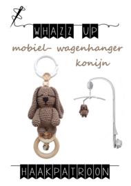 WHAZZ UP haakpatroon konijn voor mobiel/ box/ wagenhanger