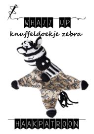 WHAZZ UP haakpakket knuffeldoekje zebra