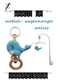WHAZZ UP haakpatroon mobiel/ box/ wagenhanger walvis