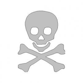 veloursmotief skull jongen wit