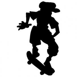 veloursmotief skater