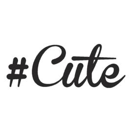 veloursmotief #cute sierlijk (in zwart of wit)