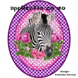 SUPER full color applicatie zebra paars