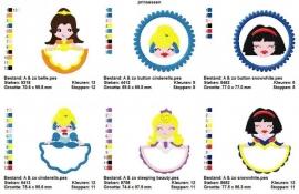 serie borduurmachine patronen prinsessen