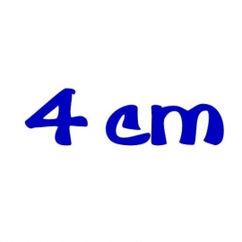 strijkletters 4 cm hoog