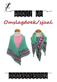 WHAZZ UP haakpatroon omslagdoek/ sjaal mint