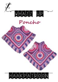 WHAZZ UP haakpakket kinderpocho (met capuchon) roze/ paars