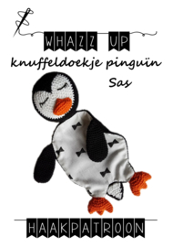 WHAZZ UP haakpatroon knuffeldoekje pinguïn Sas