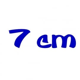strijkletters 7 cm hoog
