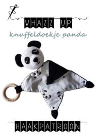 WHAZZ UP haakpatroon knuffeldoekje panda