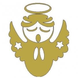 gouden strijkmotief engeltje