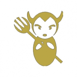 gouden strijkmotief duiveltje