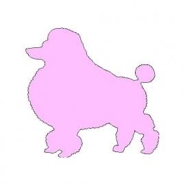 veloursmotief roze poedel
