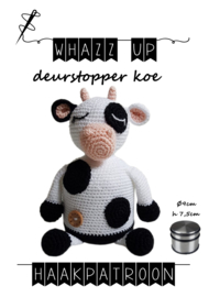 WHAZZ UP haakpatroon deurstopper koe