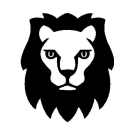 veloursmotief stoere leeuw