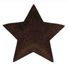 kniestukken ster bruin (2 stuks) opstrijkbaar
