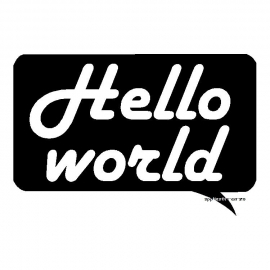 veloursmotief Hello world
