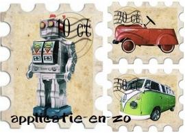 WHAZZ full color strijkapplicaties postzegels jongens