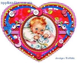 SUPER full color strijkapplicatie vintage baby
