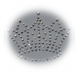 Rhinestone strijkapplicatie kroon