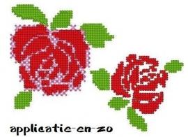 roos in kruissteek (2 formaten)